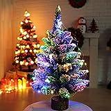 Künstlicher Weihnachtsbaum LED Tannenbaum Deko Miniatur Winter Landschaft Weihnachten (50cm)
