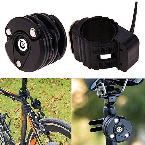 Homy Lucchetto Bici, bicicletta Amburgo blocco, mountain bike accessori per biciclette auto elettrica fissa chiusura pieghevole accessori