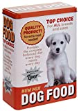 Vorratsdose Blechdose Futterdose 'Fütterungszeit' groß 18x10x25 cm Dog Food