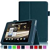 Fintie Folio Case Cover Schutzhülle Tasche Etui für Acer Iconia A1-810 / A1-811 7.9 Zoll Tablet Slim Fit mit Stylus-Halterung - Marineblau