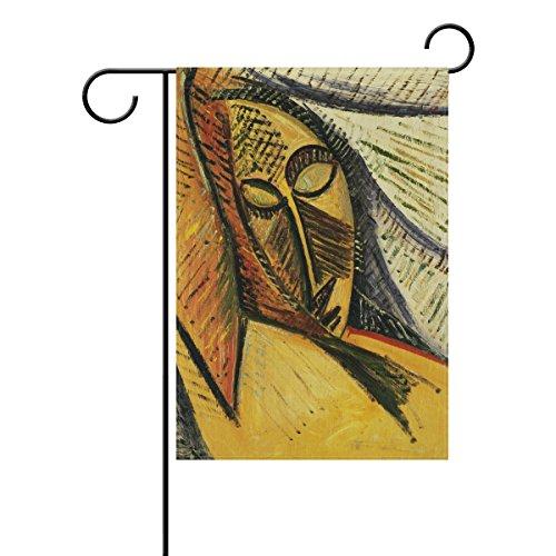 Bennigiry Pablo Picasso African Girl Art Home Garden Drapeau décoratifs 30,5 x 45,7 cm vintage Tissu de polyester Bienvenue Drapeau pour Yard Décor, Polyester filé, multicolore, 12x18(in)