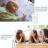 Willcare Babyphone mit Gegensprechfunktion, Baby-Einheit Nachtlicht bis zu 300m Grosse Reichweite, Geräuschpegel-Anzeige & Batteriebetrieben Die Eltern-Einheit,DBM-6 … (1RX+1TX) - 4