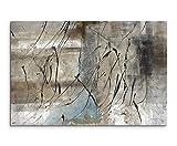 Paul Sinus Art 80x 60cm foto di tela canvas stampa d' arte murale grigio beige nero Trattini