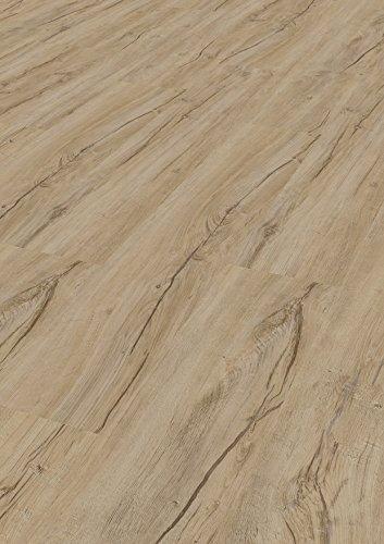 Bodentrend Vinyl Galant zum Klicken ohne Trittschalldämmung, 4,5 mm Stärke, 0,30 mm Nutzschicht, mit Microfase - waterproof - 1 Paket (2,61 m²) (Saragozza rustico)