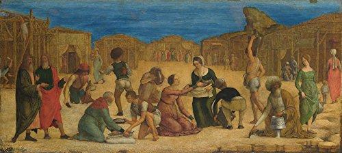 Das Museum Outlet–Ercole De 'Roberti–Die Israeliten sammeln Manna–Leinwanddruck Online kaufen (101,6x 127cm)