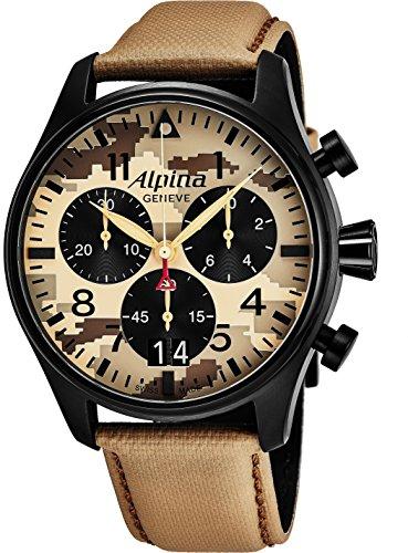 Alpina Startimer Pilot Big Date Chronograph Desert Camouflage Quarzuhr