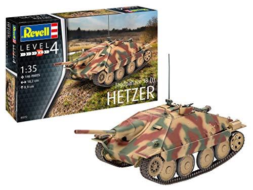 Revell HETZER Jagdpanzer 38 t 3272, Grün - 1 35 38 Panzer