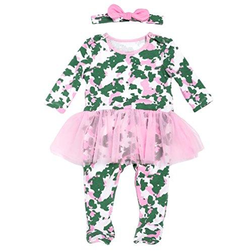 t Halloween Kürbis Kostüm kinderkostüme Mädchen Jungs Strampler Body Outfits Set mit Kappe Stil 3 73 ()