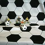 Meterware Stoff Fussball Klassik Retro schwarz weiß EM