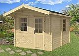 Gartenhaus Sauna JOONAS 70 ISO Blockhaus 300x400cm 70mm Blockhaus Holzhaus