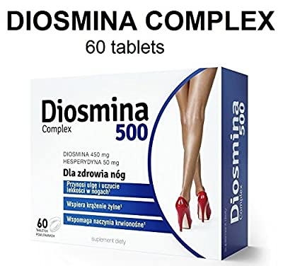 DIOSMINA COMPLEX 60 tablets - Micronized Diosmin Hesperidin Vitamin C Rutin Ruscus Aculeatus L. - Intensive Anti Cellulite Action Spider Varicose Veins Haemorrhoids Piles Heaviness Swollen Legs Cramps Pain Relief Natural Treatment - For beautiful and heal