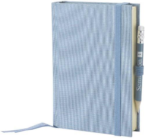 Semikolon (351188) Reisetagebuch Petit Voyage ciel (hell-blau) blanko | Tagebuch mit 272 Seiten | 2 Lesezeichen, Weltkarte, uva. | Notizbuch A6