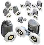 Roulettes de Douche Porte Coulissante de Douche Roulette Porte 23mm Roulette de Douche Porte a Roulette B43 8pcs