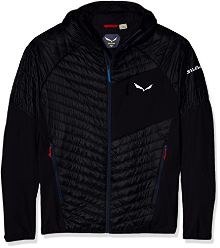 Salewa, ortles hybrid 2 prl m jkt, giacca, uomo, nero (black out/3990), 48/m