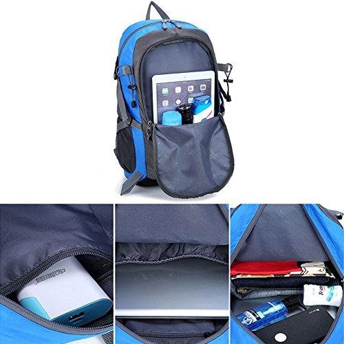 YUMOMO 40L impermeabile Zaino Escursionismo campeggio di corsa esterna zaino Sport Pack alpinismo arrampicata zaino Bag (arancia) blu
