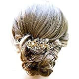 Yean Hair Comb Wedding Hair Accessories with Rhinestones and Beads for Women and Girls