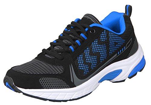 ilovesia-delocrd da uomo scarpe da corsa Sport (gestito da Amazon solo), multicolore (Black+Blue New Design), 39