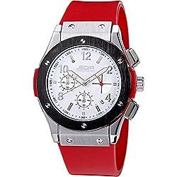 YPS Men Number&Nail Shape Scale Quartz Movement Multifunction Sub Dials Calendar Luminous Wrist Watch WTH5316