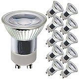 10 x LED Leuchtmittel kleiner Reflektor MR11 3W = 35W GU10 230V 300lm warmweiß 3000K 36° (3W = 35W, 10 Stück)