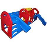13085, Petra 4, XXL Play House with Slide and Swing, 155 x 257 x 101 cm