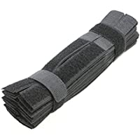Pasow 50pcs Colourful Cable Ties Reusable Fastening Wire Organizer Cord Cable Management 7 Inch - Black