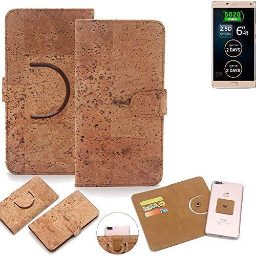 K-S-Trade Schutz Hülle für Allview P8 Energy Pro Handyhülle Kork Handy Tasche Korkhülle Schutzhülle Handytasche Wallet Case Walletcase Flip Cover Smartphone