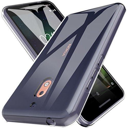 L K Custodia per Nokia 2.1, Case in Morbido Silicone di Gel AntiGraffio in TPU Ultra [Slim Thin] Cover Protettiva - Trasparente
