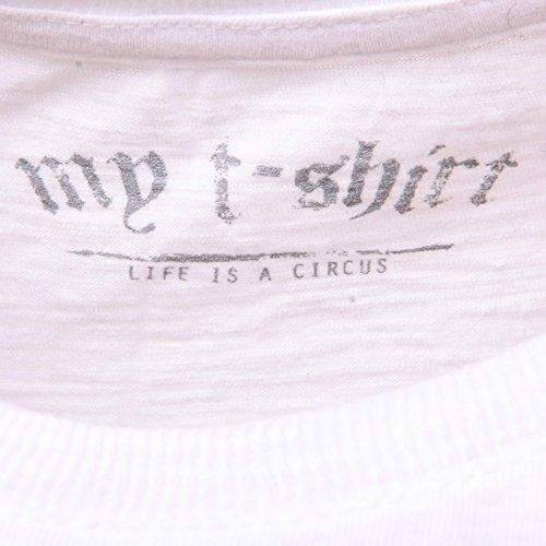 C4584 t-shirt maglia donna MY T-SHIRT bianco t-shirt woman Bianco