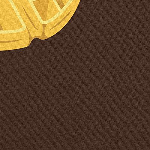 Planet Nerd Elfi's Waffles - Damen T-Shirt Braun
