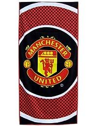 Man Utd 'Bullseye' Large Velour Beach Towel