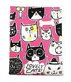 Lovely Cats Pattern Baumwoll Leinen Stoff Stoff