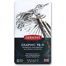 Derwent Graphic Soft Graphite Pencils, 9B-H - Set of 12
