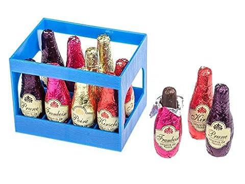 Abtey - Casier « Royal des Lys » - 12 bouteilles en chocolat fourrées à la liqueur
