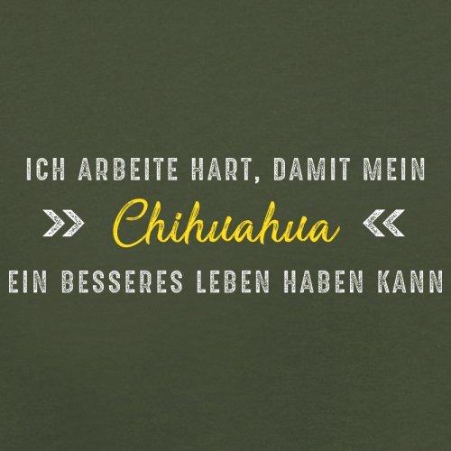 Ich arbeite hart, damit mein Chihuahua ein besseres Leben haben kann - Herren T-Shirt - 12 Farben Olivgrün