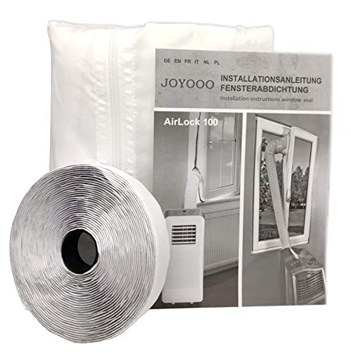 JOYOOO para aparatos de aire acondicionado portátiles Cubierta de ventana AirLock, Pantalla...