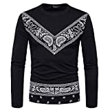 Men Print Sweatshirts, Xinantime Clearance Sale Mens Casual Long Sleeved Autumn African T-Shirt Round Collar Sweatshirts Sport Tops Polo Blouse for Men Plus Size M - 3XL
