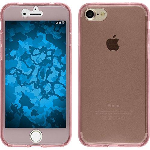 PhoneNatic Custodia Apple iPhone 8 Cover azzurro 360° Fullbody iPhone 8 in silicone Case Rosa