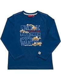 Salt & Pepper Longsleeve Builder Print, T-Shirt Manches Longues Garçon
