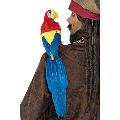 atenpapagei Piraten Papagei Pirat Papagei als Kostüm Zubehör zum Piratenkostüm ()