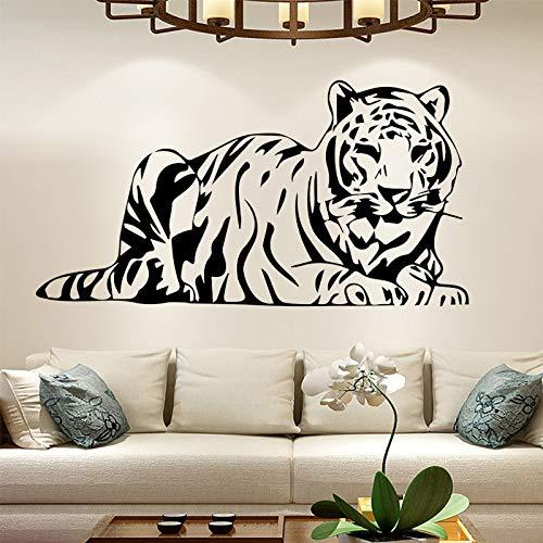 jiuyaomai Muyuchunhua Fierce Tiger Wandaufkleber Für Mann Wohnkultur Wohnzimmer Schulzimmer Bad Vinyl wasserdichte Wandkunst Aufkleber PVC red 86x160 cm -