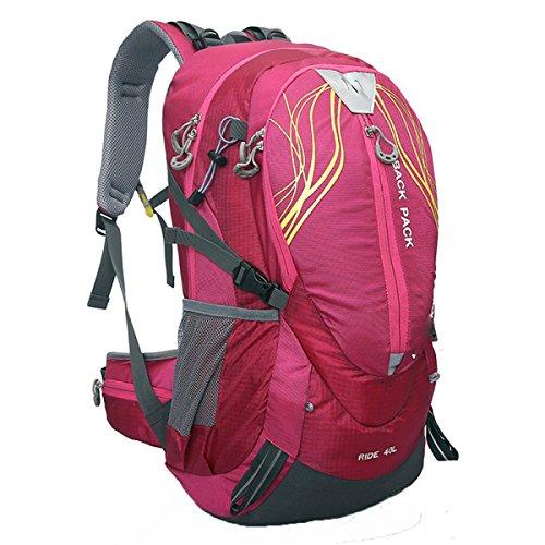 40L Outdoor Sport Rucksack Bergsteigen Tasche Reittasche Fahrradtasche,Pink Pink