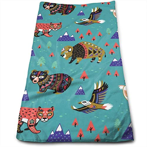 Kaixin J Mountain Animals_11083 Microfiber Bath Towels,Soft, Super Absorbent and Fast Drying, Antibacterial, Use for Sports, Travel, Fitness, Yoga 12 * 27.5 Inch -