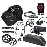 Bafang BBS02 48V750W Kit de conversión de Motor de Bicicleta eléctrico con batería de Iones de Litio 48V 17.5AH y Cargador 2A