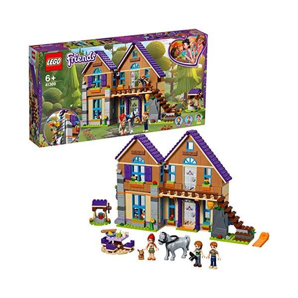 LEGO Friends LaVillettadiMia, 3Mini-doll, Figure del Coniglio e del Cavallo,Casa delle Bambole da Costruire, Giocattoli per Bambini, 41369 2 spesavip