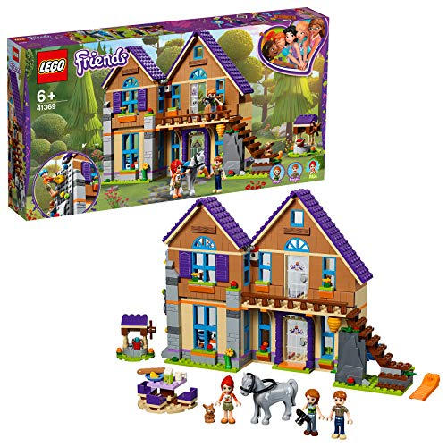LEGO 41369 Friends Mias House Set 3 mini-dolls Rabitt and Horse Figures Build and Play Dollhouse Toys for Kids