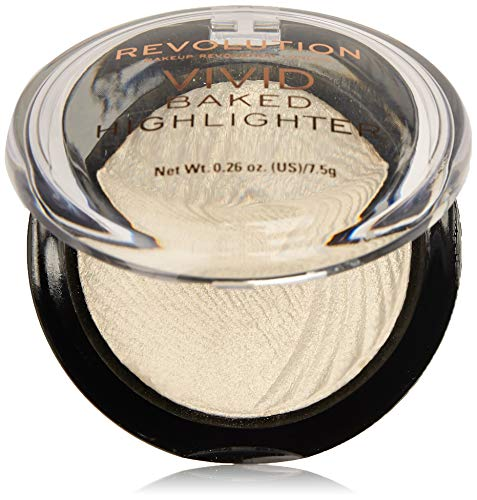 MAKEUP REVOLUTION Vivid Baked Highlighter,Gold(Golden Lights),7.5g