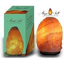 LAMPARA DE SAL DEL HIMALAYA - Incluye Cable y Bombilla - PESO ENTRE 4 Y 6 KG - MAGIC SALT LIGHTING FOR YOUR SOUL
