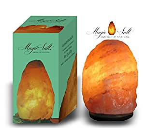 MAGIC SALT LIGHTING FOR YOUR SOUL Lampada di Sale dell Himalaya (4-6 kg) SCATORLA Originale Deluxe