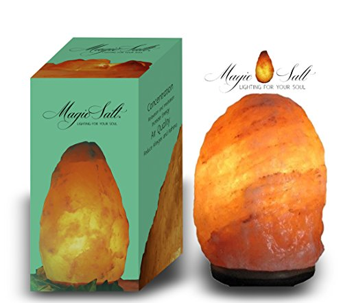 LAMPARA DE SAL DEL HIMALAYA - Incluye Cable y Bombilla - PESO ENTRE 4 Y 6 KG - MAGIC SALT LIGHTING FOR YOUR SOUL