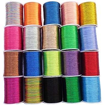 Hand//Machine New Quality 1 X 50m Each White /& Khaki Green Sewing Cotton Thread
